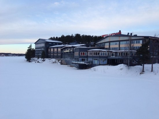 Hotell Lappland:                   Hotel from the frozen river
