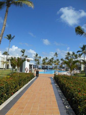 Hotel Riu Palace Bavaro:                   Walking up to the VIP access pool