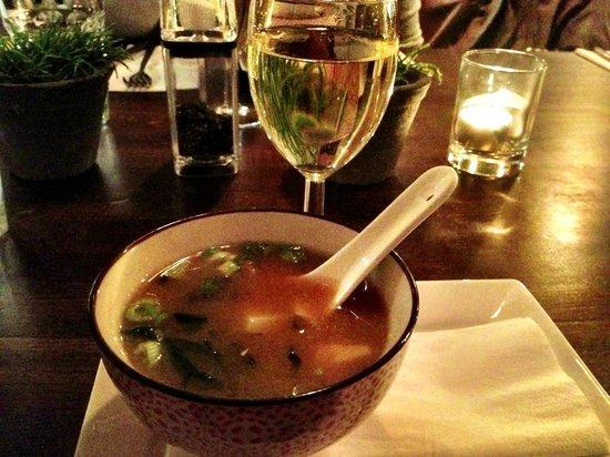 Gochi Japanese Bistro:                   Miso Soup (yummy)