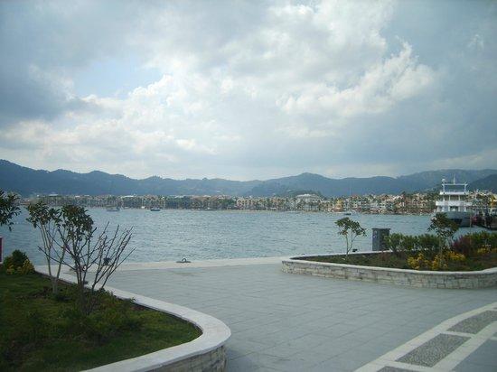 Grand Pasa Hotel:                                     marina, bit cloudy :-)