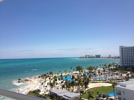 Hotel Riu Caribe:                   View from our 8th floor balcony