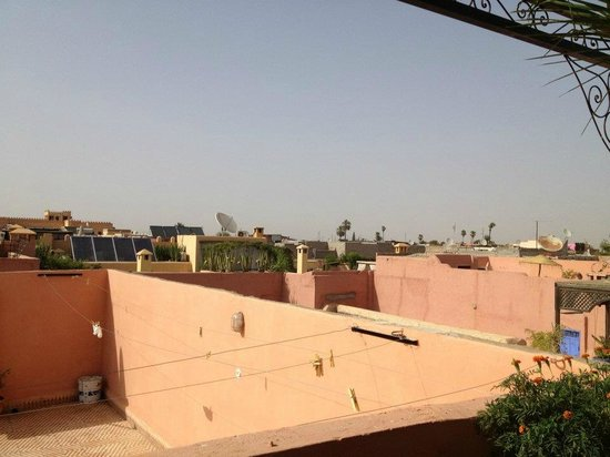 Riad Nora:                   View from the Riad Terrace