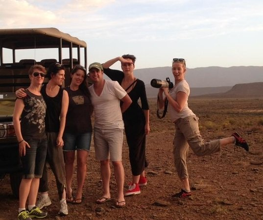 Sanbona Wildlife Reserve:                   G&T's with the Elephants