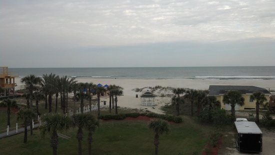 Hampton Inn St. Augustine Beach:                                     our view of the beautiful beach and Atlantic Ocean