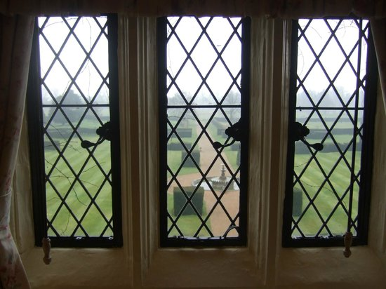 Eastwell Manor:                   View from Sir Moyles Finch Room