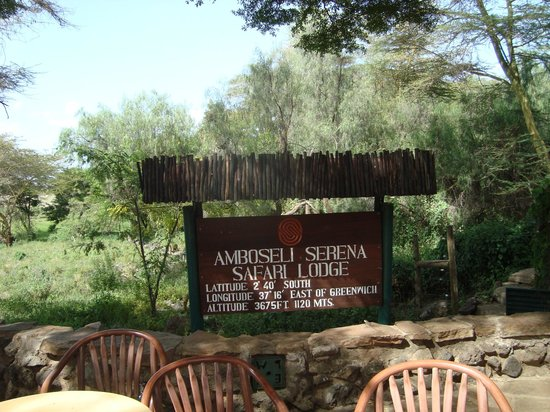Amboseli Serena Safari Lodge:                   Hotel Sign