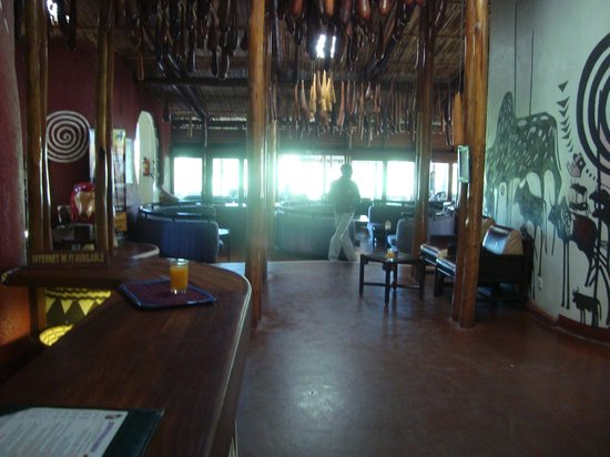 Amboseli Serena Safari Lodge:                   Reception area