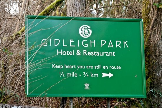 Gidleigh Park:                   Half way down the windy drive
