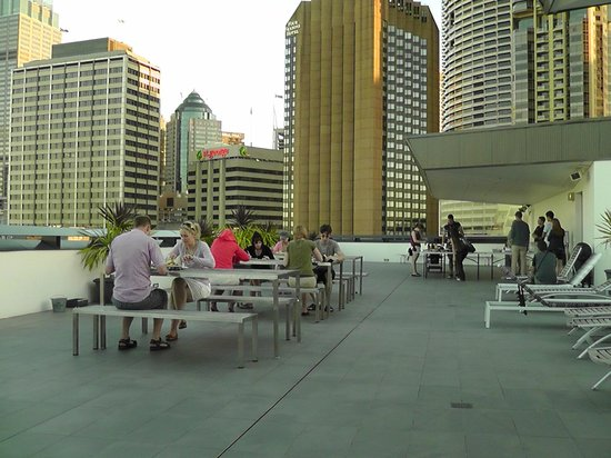 Sydney Harbour YHA:                                     Roof top terrace BBQ