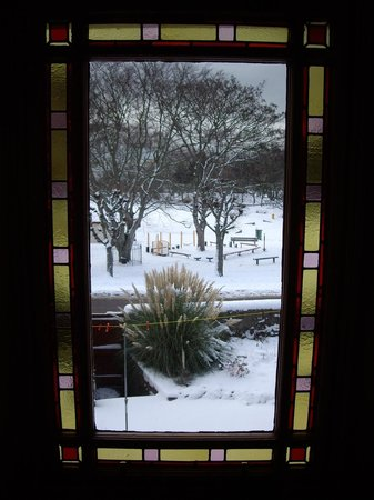 Glebe End Bed and Breakfast: View from Landing Window (Winter)