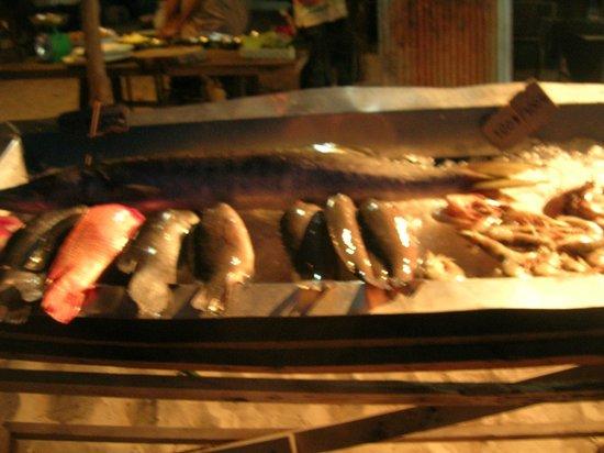 Koh Ngai Camping Restaurant:                   Ganz frischer Fisch