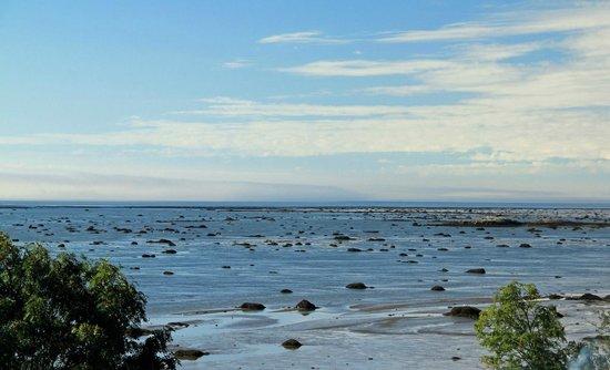 Camping Bon-Desir:                                     View of the receding tide