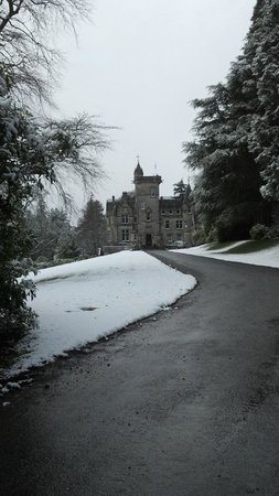 Kinnettles Castle:                                     Approach to castle