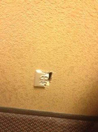 Quality Inn:                                     Electrical cover busted (Hazard to small child)