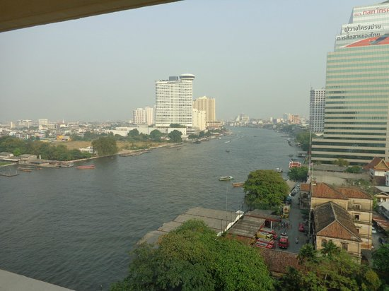 Mandarin Oriental, Bangkok:                   View from our window on 12th floor