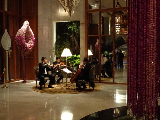 Mandarin Oriental, Bangkok:                   String Quartet playing in the Lobby