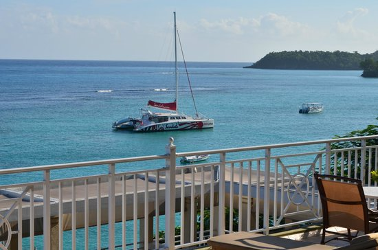 Sandals Ochi Beach Resort:                   Crystal clear blue water and lots of water sport activities