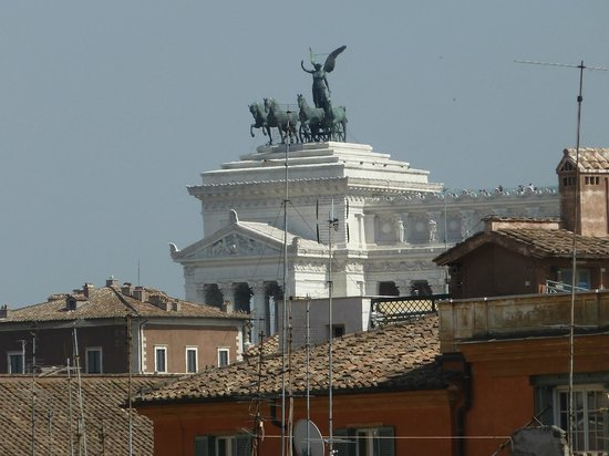 Pantheon Royal Suite:                   View from our patio