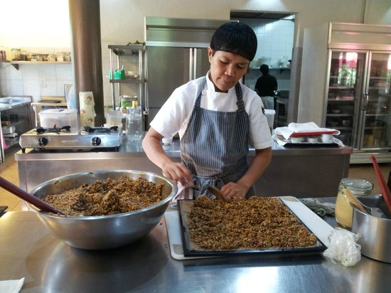 The Farm at San Benito:                   see the cook at work