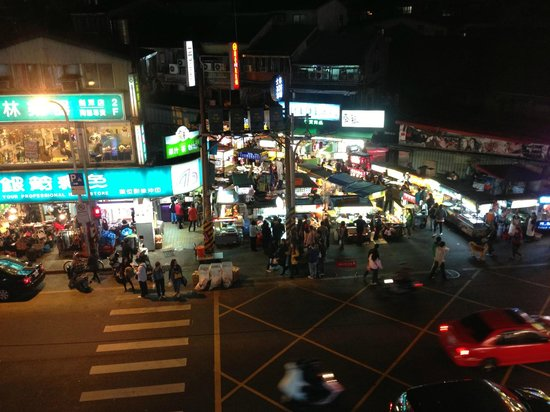 Les Suites Grandee:                   The night markets from the room.