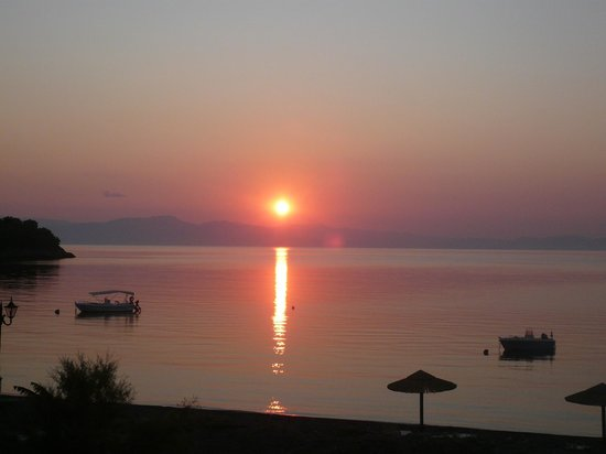 Akti Kamares:                   Sunrise from our balcony