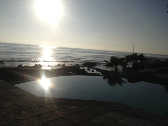 Las Rosas Hotel & Spa:                   Sunset view from the patio