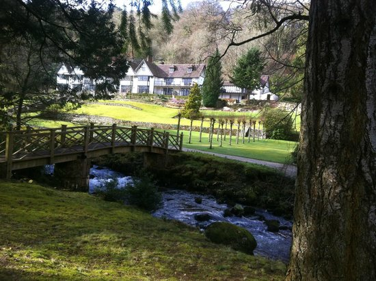 Gidleigh Park:                   Looking at the hotel from the grounds