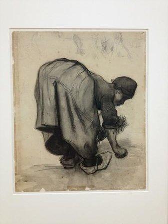 Kroller-Muller Museum:                   charcoal study by Vincent Van Gogh