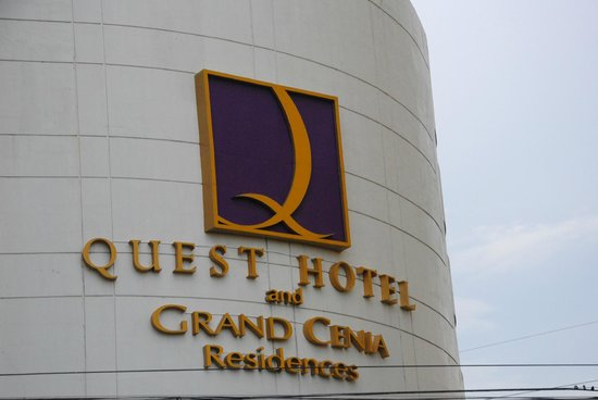 Quest Hotel and Conference Center - Cebu:                                     Quest Hotel front view during the late afternoon.
