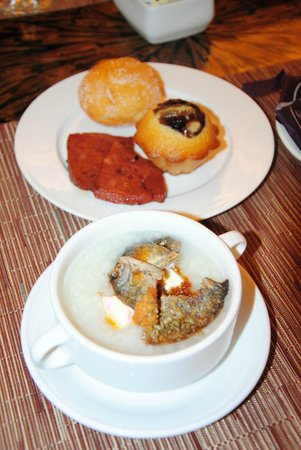 Quest Hotel and Conference Center - Cebu:                                     Breakfast Buffet! My own mix of congee and danggit plus past