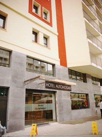 Hotel Auto Hogar:                   ホテル正面(工事終了?)