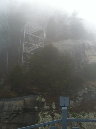 Chimney Rock State Park:                   Foggy Day on Chimney Rock Park