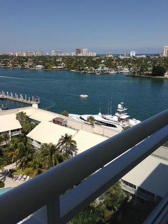 Hilton Fort Lauderdale Marina:                   Marina view
