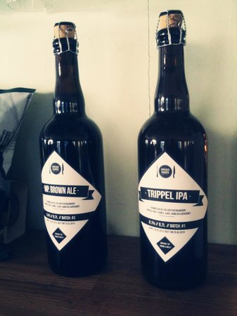 Apotekergaarden : The very first batch of our handcrafted beer.
