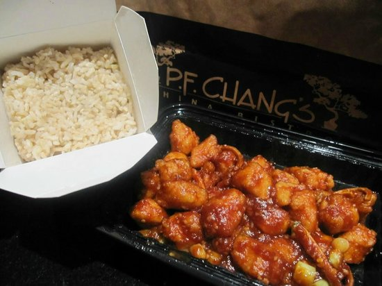 P F Chang S Orange Chicken With Brown Rice Picture Of P F Chang S Dubai Tripadvisor