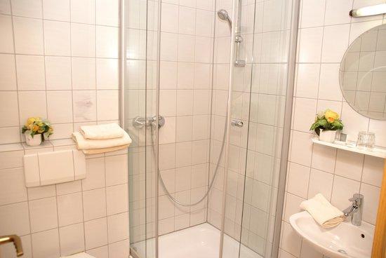 Landhotel & Gasthaus Wiedmann : WC und Dusche