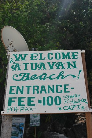 Atwayan Beach:                                     Welcome Sign