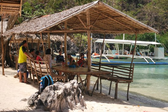 Atwayan Beach:                                     Cottages where you can sit, eat and relax