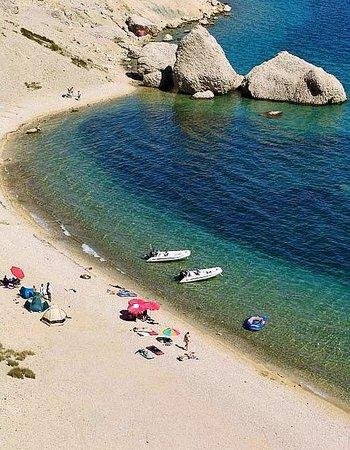 Pag, Croacia: Beritnica beach