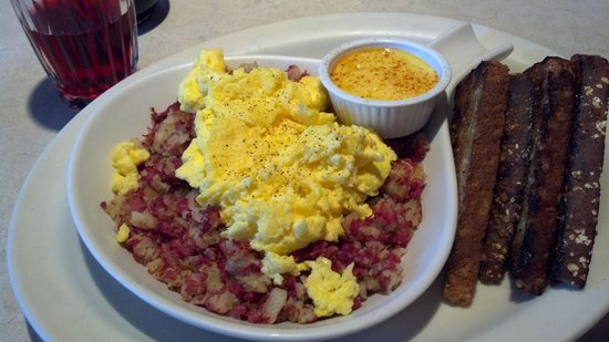 The Egg & I  St George:                   Corned beef has w/hollandaise on side