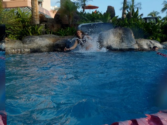 Sheraton Waikiki:                   The slide in the family pool