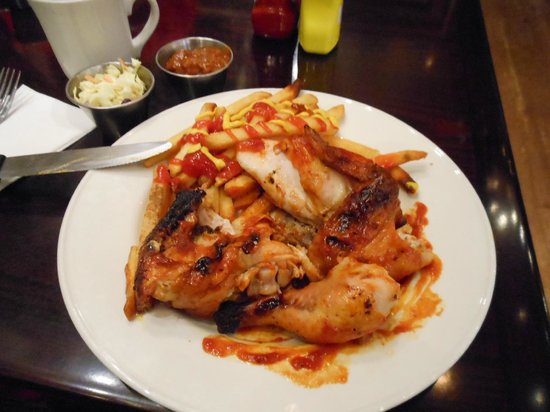 Hard Rock Cafe:                   My dinner: Hickory Smoke BBQ chicken