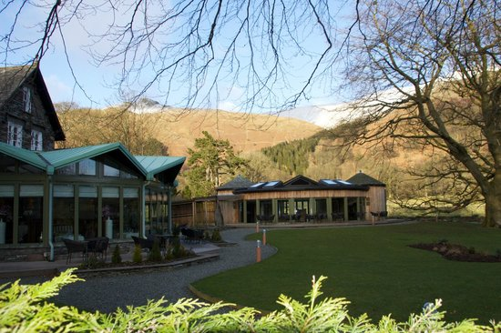 Rothay Garden Hotel:                   Stunning conservatory restaurant and private spa