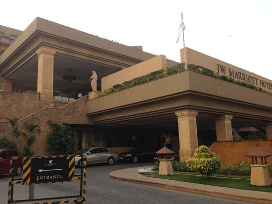 JW Marriott Mumbai Juhu: hotel upon arrival