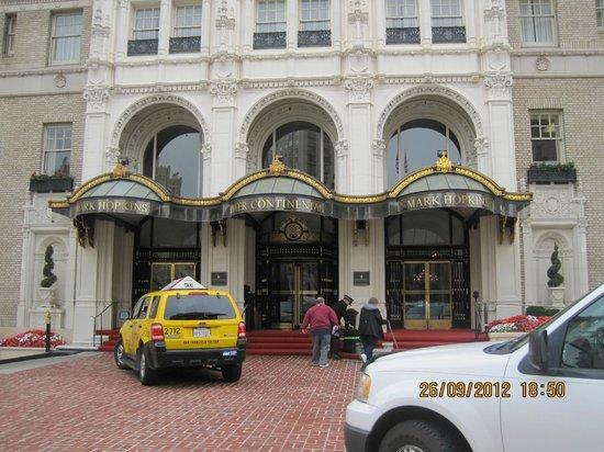 InterContinental Mark Hopkins San Francisco:                   entrance                 