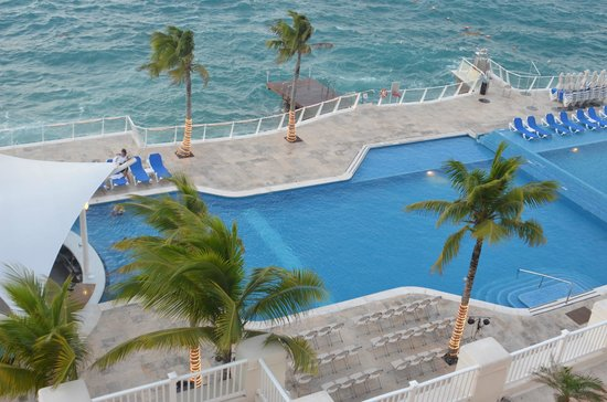 Cozumel Palace:                   All rooms overlook or have view of pool!