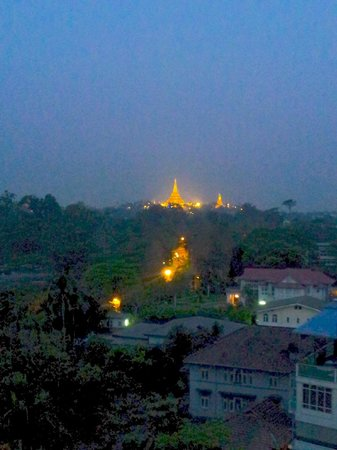 Chatrium Hotel Royal Lake Yangon:                   Pagoda at dawn