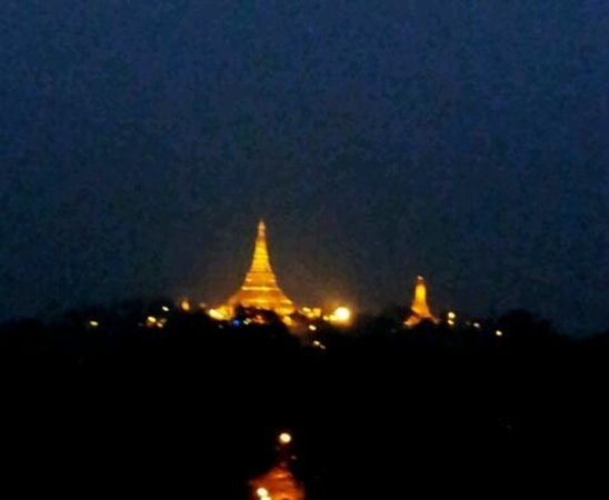 Chatrium Hotel Royal Lake Yangon:                   Shwedagon Pagoda at night