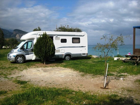 Pitch beside the Mediterranean at Orkinos Camping