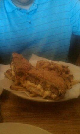 Lotawata Creek:                   Heart attack burger (deep fried burger) and fries
